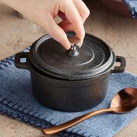Valor 8 oz. Pre-Seasoned Mini Cast Iron Pot with Cover