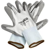 Caliber White HPPE Gloves with Gray Polyurethane Palm Coating - Medium - Pair