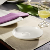 Villeroy & Boch 10-3452-1310 Urban Nature 6 1/2 inch x 5 5/16 inch White Premium Porcelain Saucer - 4/Case