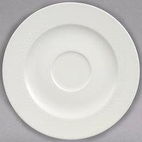 Villeroy & Boch 16-2040-1250 Universal 6 3/4 inch White Premium Porcelain Saucer - 6/Case
