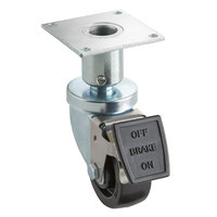 3 inch Adjustable Height Swivel Plate Caster with Brake