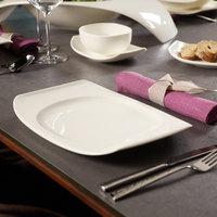 Villeroy & Boch 10-3452-2610 Urban Nature 12 11/16 inch x 8 1/2 inch White Premium Porcelain Flat Plate - 4/Case