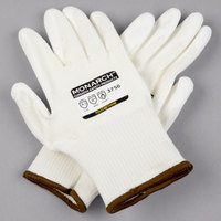 Monarch White Engineered Fiber Cut Resistant Gloves with White Polyurethane Palm Coating - Large - Pair