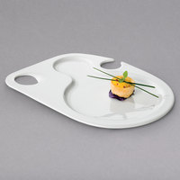 Villeroy & Boch 16-2040-2771 Universal 10 1/4 inch x 6 5/16 inch White Premium Porcelain Bento Party Plate - 6/Case