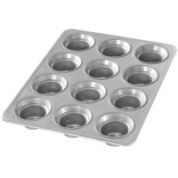 Chicago Metallic 42754 12 Cup 3 oz. Glazed Customizable Mini Crown Muffin Pan