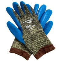 Power-Cor Max Camo Aramid / Steel / Cotton Cut Resistant Glove with Blue Latex Palm Coating - Extra Large - Pair
