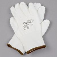Javelin White HPPE / Synthetic Fiber Gloves with White Polyurethane Palm Coating - Medium - Pair