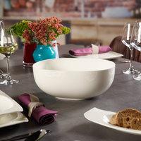 Villeroy & Boch 10-3452-3160 Urban Nature 101 oz. White Premium Porcelain Salad Bowl - 4/Case
