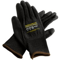 Monarch Black Engineered Fiber Cut Resistant Gloves with Black Polyurethane Palm Coating - Medium - Pair