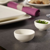 Villeroy & Boch 10-3452-3932 Urban Nature 1.5 oz. White Premium Porcelain Dip Bowl - 4/Case