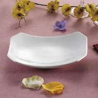 CAC RCN-H34 Bright White 9 inch x 6 1/4 inch China Rectangular Tasting Platter 24/Case