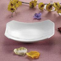CAC RCN-H34 9 inch x 6 1/4 inch Bright White China Rectangular Tasting Platter - 24/Case