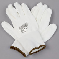 Mirage White HPPE / Synthetic Fiber Gloves with White Polyurethane Palm Coating - Extra Large - Pair