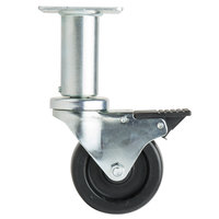 4 inch Adjustable Swivel Plate Caster with Brake