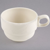 Homer Laughlin 6181000 Lyrica 7.75 oz. Ivory (American White) China Tea Cup - 36/Case