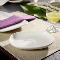 Villeroy & Boch 10-3452-1220 Urban Nature 7 11/16 inch x 5 11/16 inch White Premium Porcelain Saucer - 4/Case