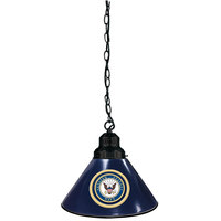 Holland Bar Stool BL1BKNavy United States Navy Logo Pendant Light with Black Finish - 120V