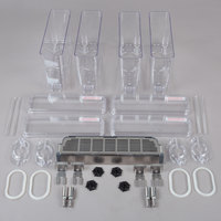 Crathco 231-00544 Quadruple 2.4 Gallon Beverage Dispenser Bowl Assembly