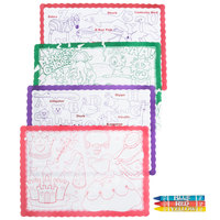 Hoffmaster Kids Color Me Design Placemat with Choice 3 Pack Kids Restaurant Crayons - 1000/Set
