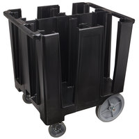 Cambro DCS1125110 Versa Black Dish Caddy - 4 Column
