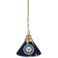 Holland Bar Stool BL1BRNavy United States Navy Logo Pendant Light with Brass Finish - 120V