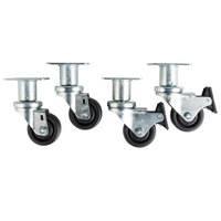 3 inch Swivel Plate Casters   - 4/Set