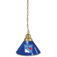 Holland Bar Stool BL1BRNYRang New York Rangers Logo Pendant Light with Brass Finish - 120V