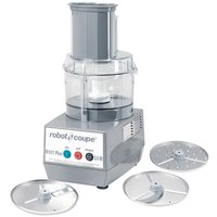 Robot Coupe R101 Plus Combination Cutter and Vegetable Slicer with 2.5 Qt. Clear Polycarbonate Bowl - 3/4 hp