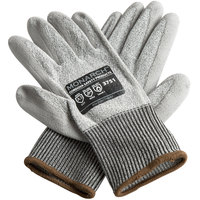Monarch Gray Engineered Fiber Cut Resistant Gloves with Gray Polyurethane Palm Coating - Extra Large - Pair