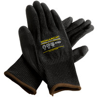 Monarch Black Engineered Fiber Cut Resistant Gloves with Black Polyurethane Palm Coating - Large - Pair