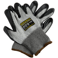 Monarch Gray Engineered Fiber Cut Resistant Gloves with Black HCT Nitrile Palm Coating - Large - Pair