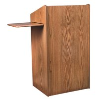 Oklahoma Sound 600MO Medium Oak Finish Aristocrat Floor Lectern