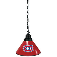 Holland Bar Stool BL1BKMonCan Montreal Canadiens Logo Pendant Light with Black Finish - 120V