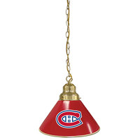 Holland Bar Stool BL1BRMonCan Montreal Canadiens Logo Pendant Light with Brass Finish - 120V
