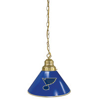 Holland Bar Stool BL1BRSTLBlu St. Louis Blues Logo Pendant Light with Brass Finish - 120V