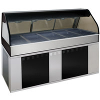 Alto-Shaam EU2SYS-72/PL BK Black Cook / Hold / Display Case with Curved Glass and Base - Left Self Service, 72 inch