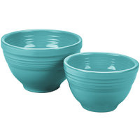 Homer Laughlin 867107 Fiesta Turquoise 2-Piece Prep Baking Bowl Set - 2/Case
