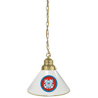 Holland Bar Stool BL1BRCstGrd United States Coast Guard Logo Pendant Light with Brass Finish - 120V