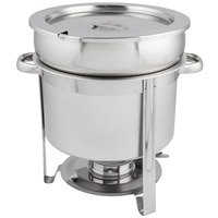 Choice 11 Qt. Deluxe Chrome Accent Marmite Soup Chafer