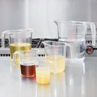 Choice 5-Piece Clear Plastic Measuring Cup Set