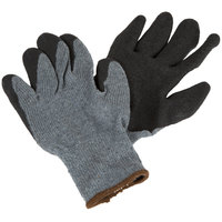 Gray Polyester / Cotton Grip Gloves with Black Crinkle Latex Palm Coating - Extra Large - Pair - 12/Pack
