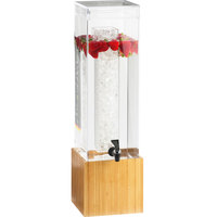 Cal-Mil 1527-3-60 3 Gallon Bamboo Beverage Dispenser - 8 1/4 inch x 9 3/4 inch x 26 3/4 inch