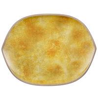 Villeroy & Boch 16-4051-2780 Artesano Meadow 12 1/4 inch x 9 1/2 inch Date Flower Porcelain Hexagon Flat Plate - 4/Case