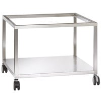 Alto-Shaam 5016085 Combitherm 38 3/4 inch x 38 5/16 inch Mobile Open Front and Back Combi Oven Stand