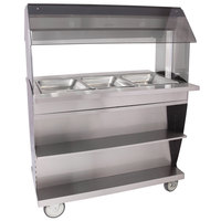 Alto-Shaam HFT2SYS-300 Three Pan Mobile Electric Hot Food Buffet Table - 240V
