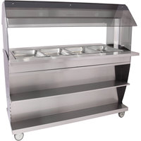 Alto-Shaam HFT2SYS-400 Four Pan Mobile Electric Hot Food Buffet Table - 240V