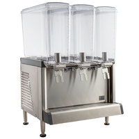 Crathco CS-3L-16 Simplicity Bubbler Series Triple 4.75 Gallon Pre-Mix Cold Beverage Dispenser with Agitator Function