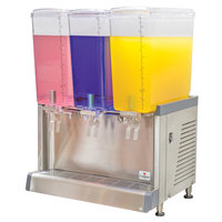 Crathco CS-3L-16-S Simplicity Bubbler Series Triple 4.75 Gallon Pre-Mix Cold Beverage Dispenser with Spray Function