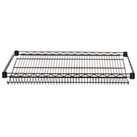 Regency 18 inch x 36 inch NSF Black Epoxy Slanted Wire Shelf