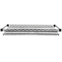 Regency 24 inch x 36 inch NSF Black Epoxy Slanted Wire Shelf